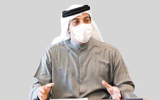 الصورة: منصور بن زايد يؤكد أهمية «الإمارات للاستثمار» في تحقيق عائدات مجزية