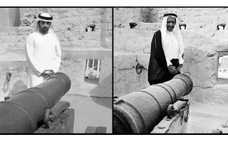 الصورة: حمدان بن محمد يطلق مشروع إعادة تأهيل حصن الفهيدي التاريخي