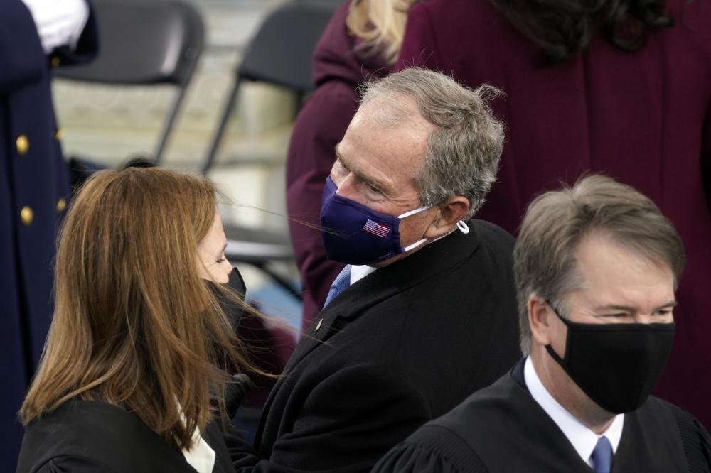 جورج دبليو بوش خلال حفل التنصيب.