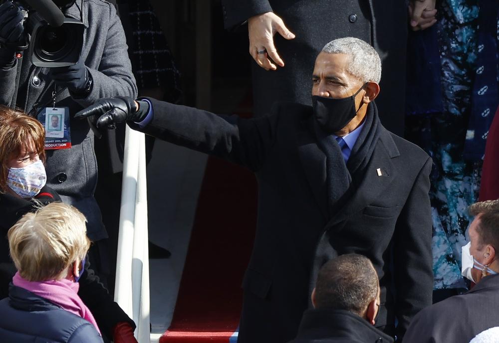 باراك أوباما شارك في حفل تنصيب بايدن.