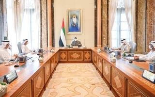 الصورة: منصور بن زايد يترأس اجتماع مجلس إدارة المصرف المركزي