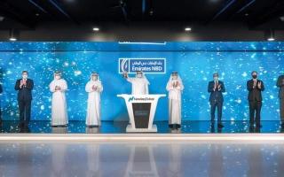 الصورة: «الإمارات دبي الوطني» يدرج سندات بـ 750 مليون دولار في «ناسداك دبي»