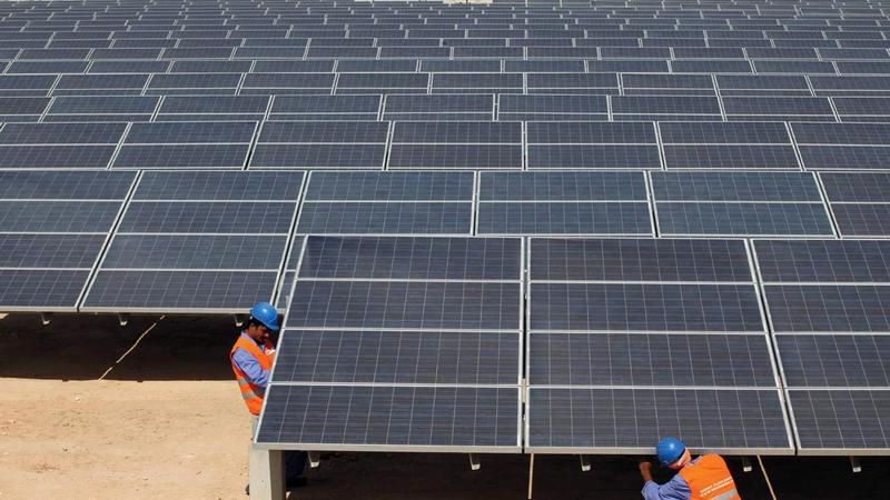 أبوظبي أنتجت 2.16 مليون ميغاواط/ ساعة من الكهرباء من مصادر الطاقة المتجدّدة في 2020. أرشيفية