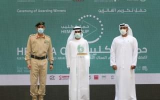 الصورة: شرطة دبي تكرم 11 فائزاً في «حماية كليب» و25 إعلامياً في «حماية ميديا»