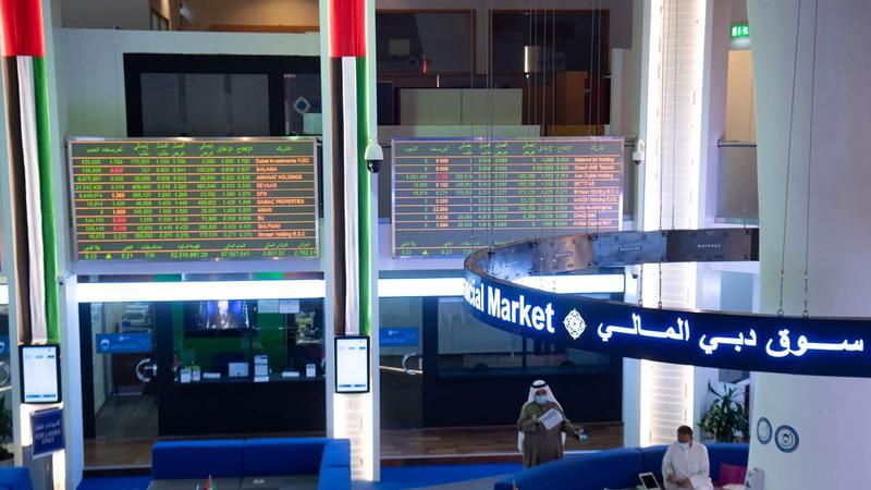 المؤشر العام لسوق دبي المالي أغلق عند مستوى 2736 نقطة. ■ تصوير: أحمد عرديتي