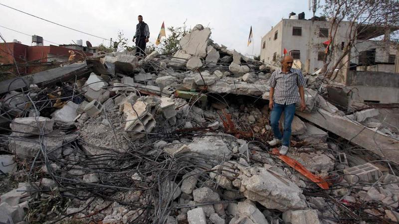 مئات العائلات الفلسطينية باتت بلا مأوى.  من المصدر