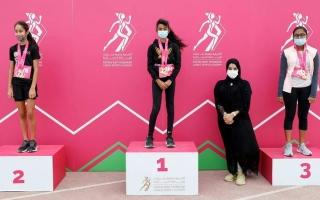 الصورة: 650 مشاركة في النسخة السابعة لسباق أكاديمية فاطمة بنت مبارك للجري