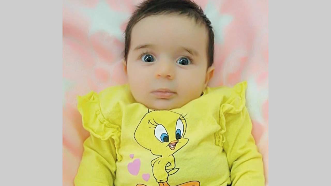 الطفلة «منيرة». من المصدر