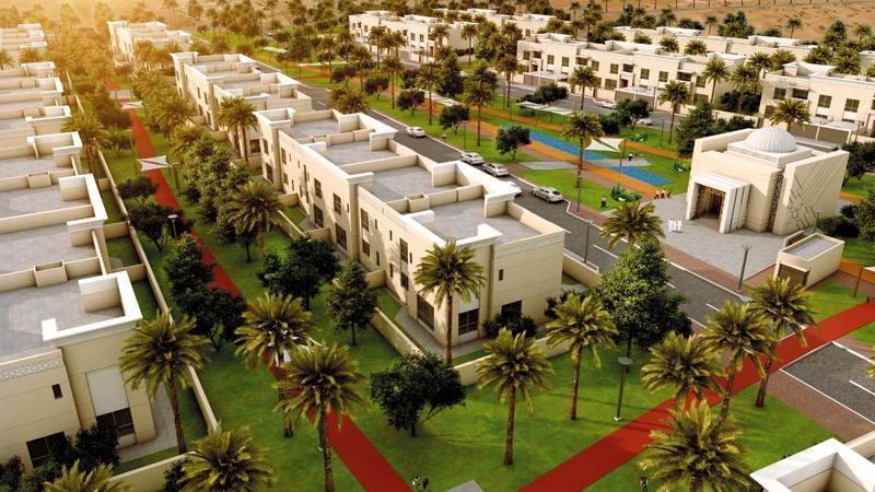 المؤسسة تنفذ حي «التسامح 2» الذي يضم 78 مسكناً في منطقة السلمة.   من المصدر