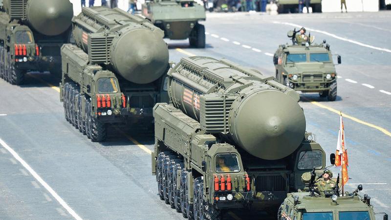 الأسلحة النووية إحدى المشكلات الشائكة بين أميركا وروسيا. أرشيفية