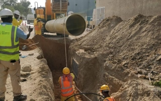 كهرباء الشارقة تكشف عن تنفيذ 3 خطوط استراتيجية لنقل المياه بكلفة 121 مليون درهم