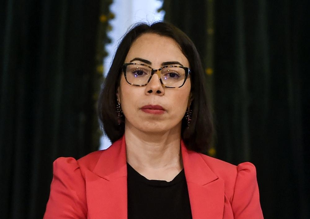 مديرة الديوان الرئاسي في تونس نادية عكاشة.  أ.ف.ب