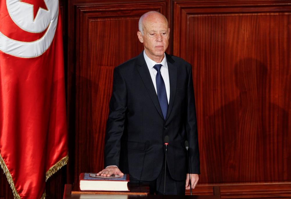 الرئيس التونسي قيس سعيّد.  رويترز