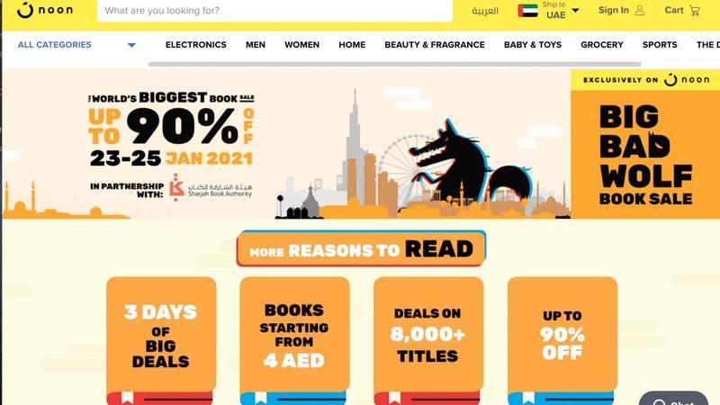 فعاليات أول نسخة افتراضية من سوق تخفيضات الكتب «بيغ باد وولف-الإمارات» هي الأولى من نوعها محلياً وإقليمياً.        من المصدر