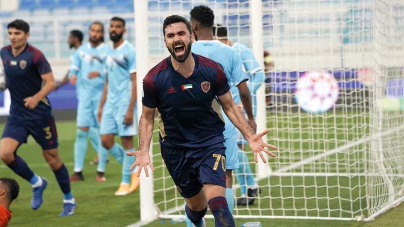 السوري عمر خريبين تألق وأحرز هدفين في ظهوره الأول مع الوحدة.   من المصدر