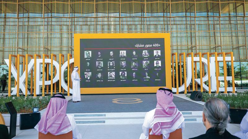 جانب من المؤتمر الصحافي الذي أقيم في بيت الحكمة بالشارقة.                                                                                                                                                                        الإمارات اليوم