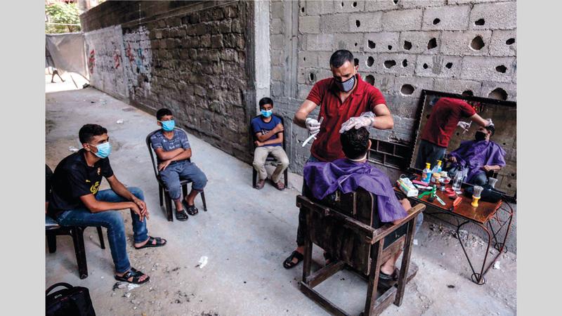 صورة الفلسطينية سمر أبوالعوف فازت بالمرتبة الثالثة.  من المصدر