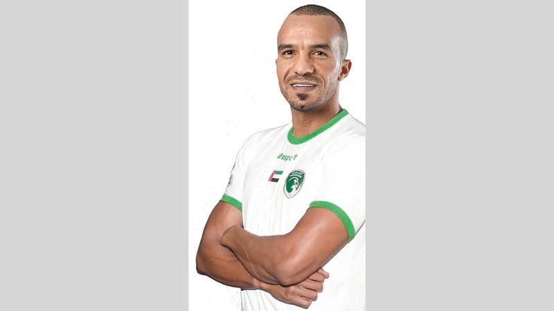 البخيت بقميص فريق الإمارات.    من المصدر