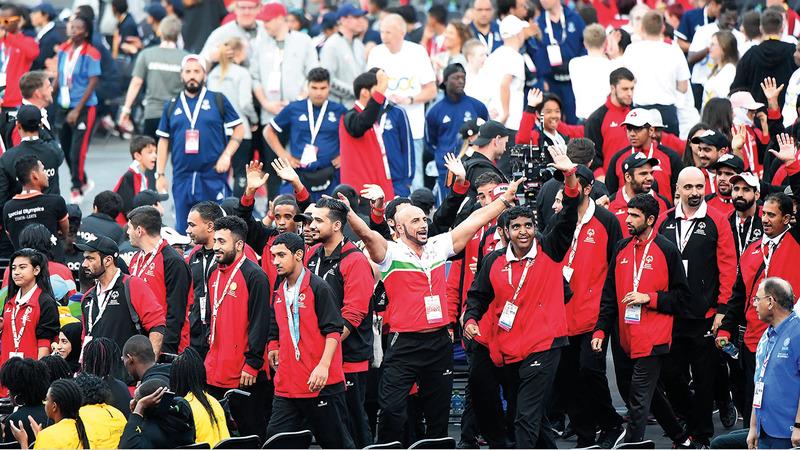 عام 2019 شهد العديد من الإنجازات لرياضيي الإمارات بينها ما حققه أصحاب الهمم في مختلف المناسبات.  تصوير: إريك أرازاس