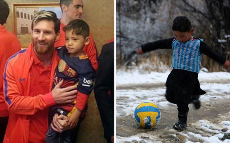 """الصورة: بالفيديو.. """"ليونيل ميسي"""" حوّل حياة الطفل الأفغاني مرتضى إلى """"كابوس"""""""