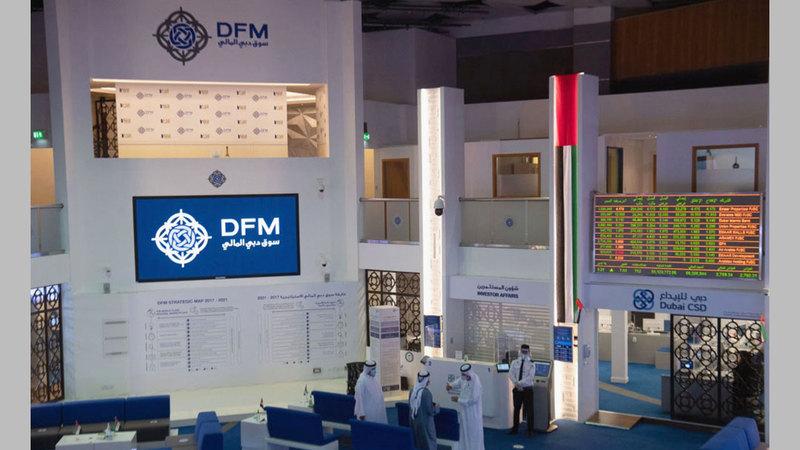 مؤشر سوق دبي المالي أغلق عند مستوى 2671 نقطة. À  تصوير: أحمد عرديتي