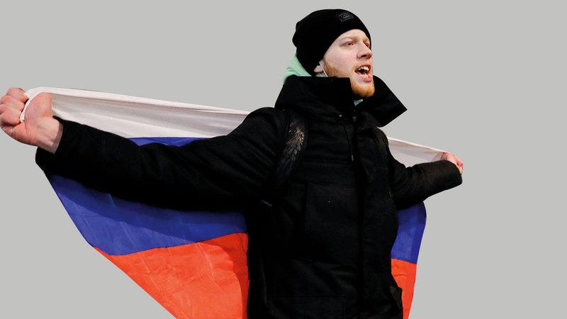 الاحتجاجات المؤيدة للمعارض الروسي عمت أرجاء البلاد. رويترز