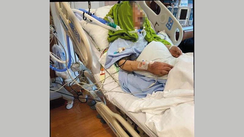«أم عائشة» خضعت لـ3 عمليات جراحية.   من المصدر