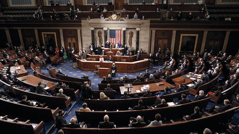 الكونغرس يشهد استقطاباً غير مسبوق. أ.ب