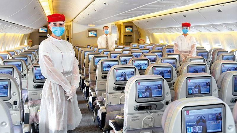 «طيران الإمارات» سجلت أعلى تصنيف من فئة «سبع نجوم».  أرشيفية