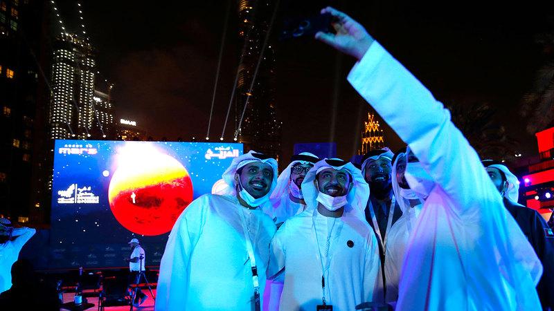النجاح في دخول مدار الكوكب الأحمر لحظة ملهمة وتاريخية للشعوب العربية. الامارات اليوم