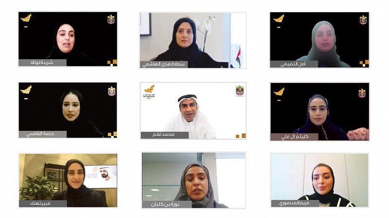 خلال المؤتمر الصحافي للإعلان عن فعاليات وجائزة «الإمارات تبتكر 2021». من المصدر