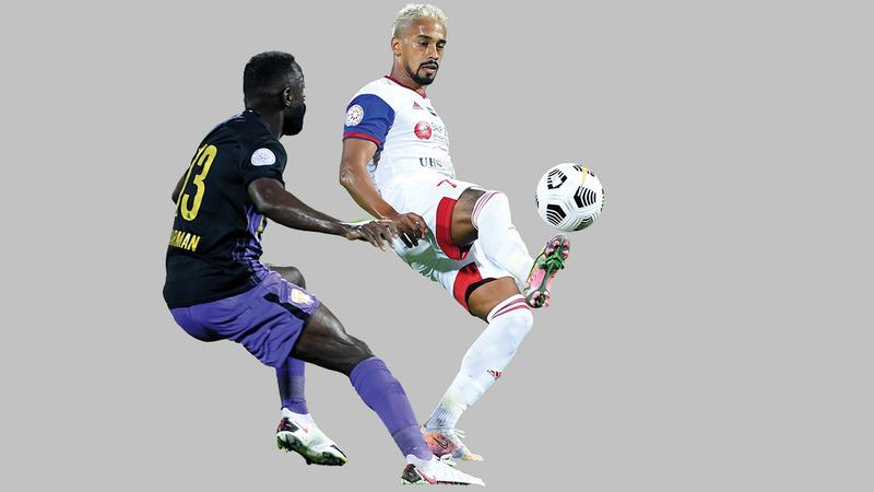 الشارقة تعرض للهزيمة الثانية في الدوري بفقدانه نقاط مباراة العين.   من المصدر