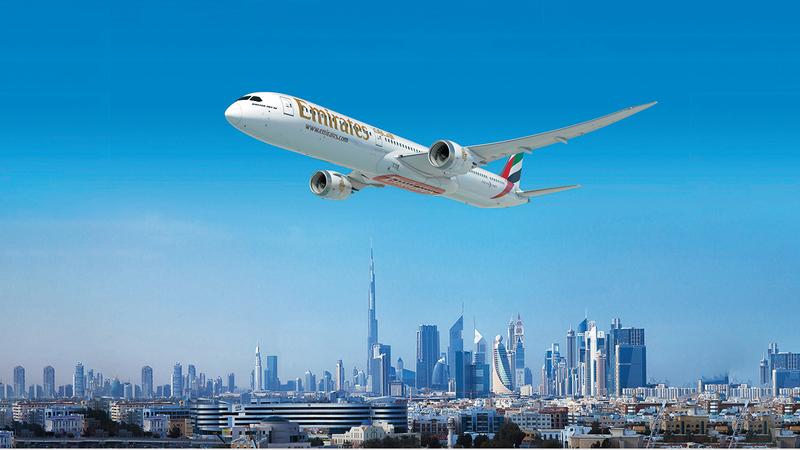 «طيران الإمارات» تشغل رحلاتها إلى 100 وجهة مقارنة بـ140 وجهة قبل الجائحة.  أرشيفية