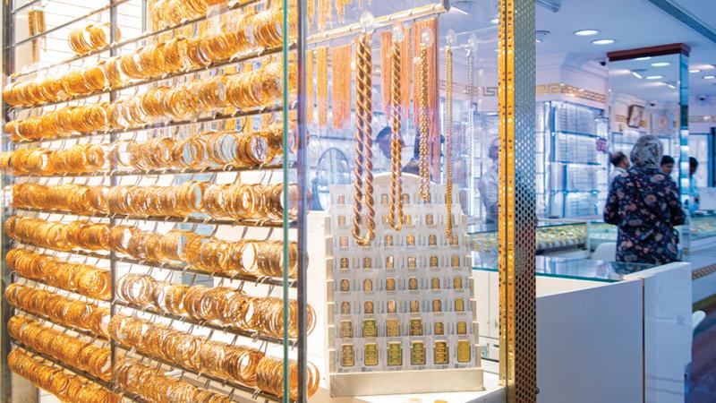 زيادة مبيعات الذهب من أبرز مؤشرات تعافي الأسواق.  تصوير: أحمد عرديتي
