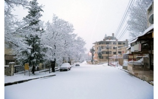 الصورة: سورية تتوشح بالبياض