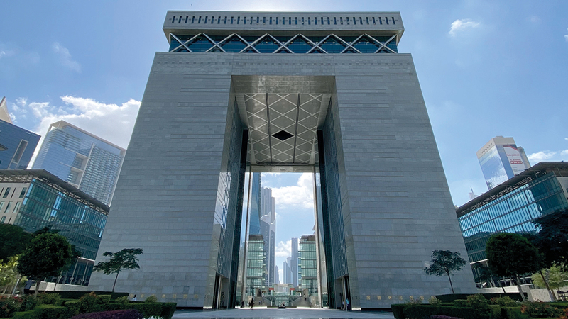 مجتمع أعمال «دبي المالي العالمي» يضم أكثر من 2500 شركة خدمات مالية.  من المصدر