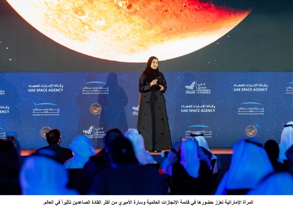 زير دولة للتكنولوجيا المتقدمة، رئيس مجلس إدارة وكالة الإمارات للفضاء،سارة بنت يوسف الأميري