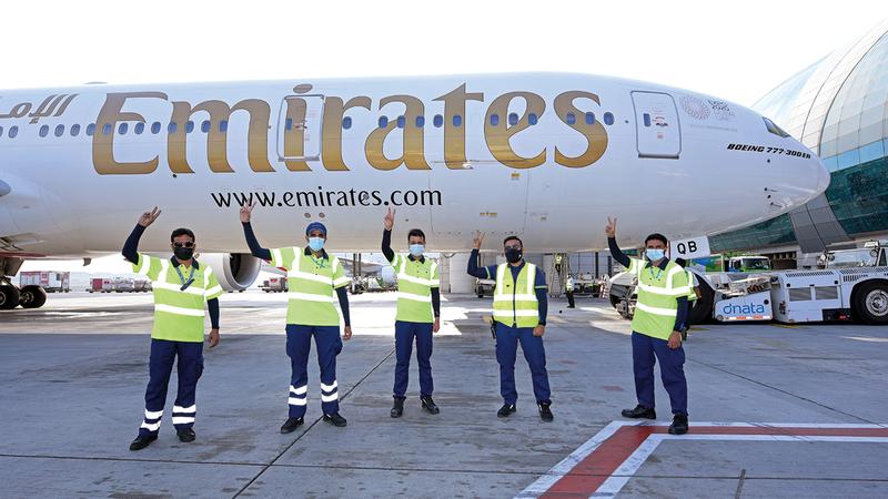 «طيران الإمارات» تضع سلامة المتعاملين معها وموظفيها على رأس أولوياتها. من المصدر