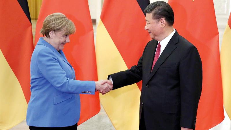 ميركل لا تشاطر أميركا رأيها في العلاقة مع الصين.   أرشيفية