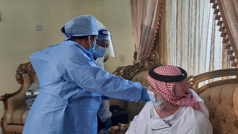 7254 من كبار المواطنين وأصحاب الهمم وذويهم تلقّوا الجرعة الأولى من اللقاح.  من المصدر