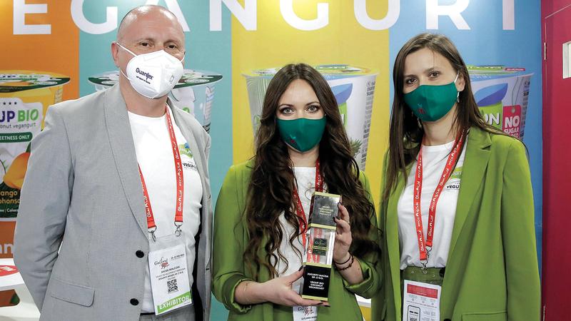 «يوجورتي» البولندية نالت جائزة «المنتج العضوي الأكثر ابتكاراً». من المصدر