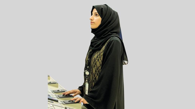 أماني الحوسني أول مهندسة نووية في دولة الإمارات.أرشيفية