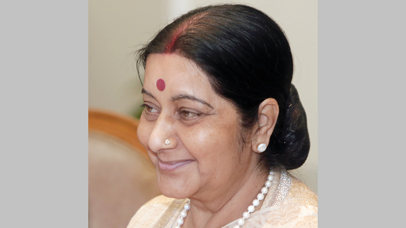 وزيرة الخارجية الهندية ألمحت إلى التعاون مع ميانمار بغض النظر عما تريده واشنطن.   أ.ب