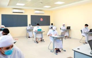 """الصورة: دبي تعتمد العودة التدريجية للمدارس الخاصة عبر """"التعليم الحضوري"""" و""""التعليم عن بعد"""""""