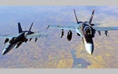 الصورة: الجيش الأميركي يقصف فصائل مسلحة موالية لإيران في شرق سورية