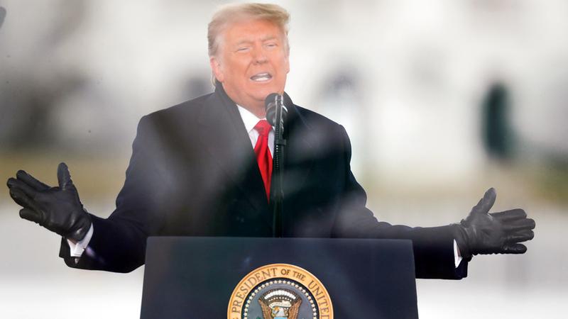 ترامب تبنى خطاباً معادياً للأجانب.   رويترز