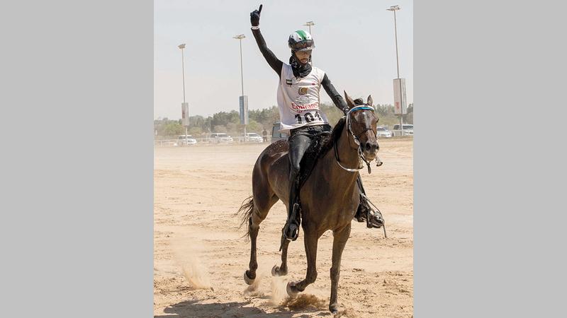 الفارس عبدالله علي العامري.  تصوير: أسامة أبوغانم