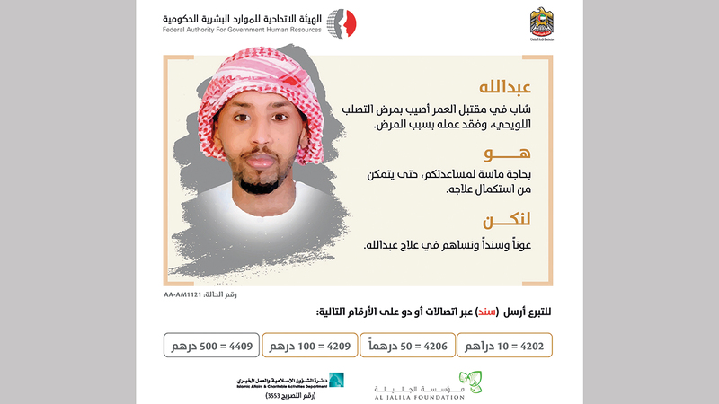 الشاب عبدالله يعاني التصلب اللويحي منذ 8 سنوات.  من المصدر