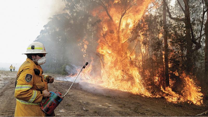 حرائق الغابات يعزوها العلماء إلى ظاهرة تغير المناخ.  ■ أ.ب