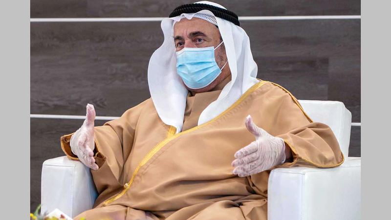 سلطان القاسمي اطلع على استراتيجية الأكاديمية وخطط عملها ومساراتها. من المصدر